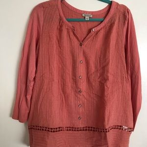 Pink Billowy Lucky Brand Blouse